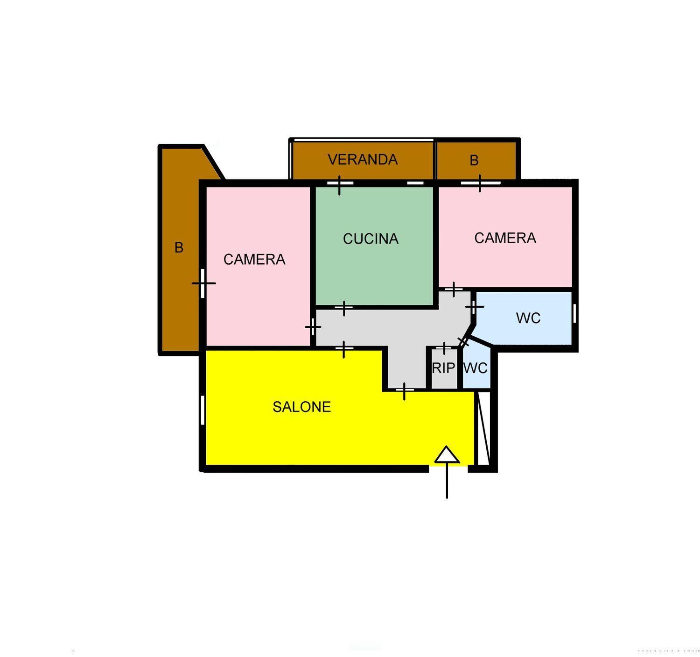 Appartamento in affitto a Palermo, 4 locali, prezzo € 650   CambioCasa.it