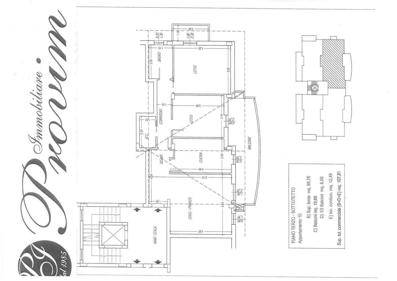 Attico / Mansarda in vendita a Montesilvano, 3 locali, prezzo € 165.000   PortaleAgenzieImmobiliari.it