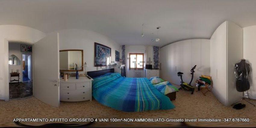 Camera da letto di appartamento quadrilocale in affitto Via Depretis, Grosseto