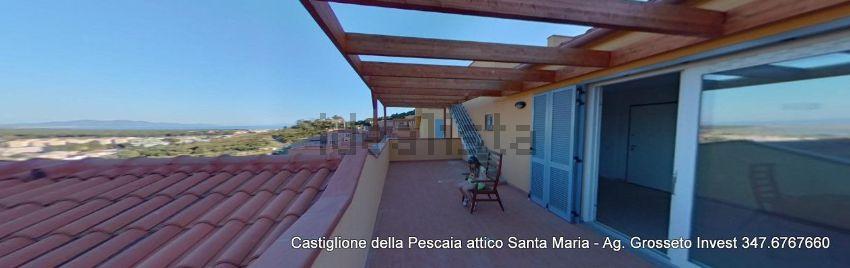 Terrazzo dell'attico in vendita a Poggio Santa Maria,Castiglione della Pescaia