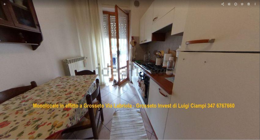 Cucina del monolocale in affitto Grosseto, Via Labriola 2