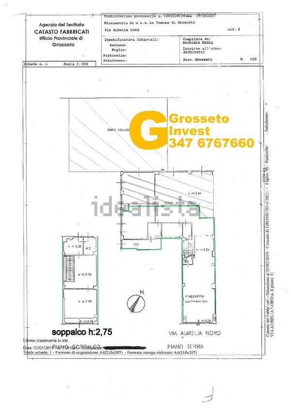 affitto locale commerciale 300mq Grosseto Via Aurelia