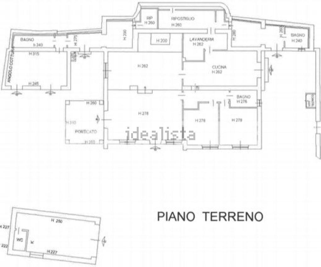 Planimetria della  villa bifamiliare in vendita, Castiglione della Pescaia