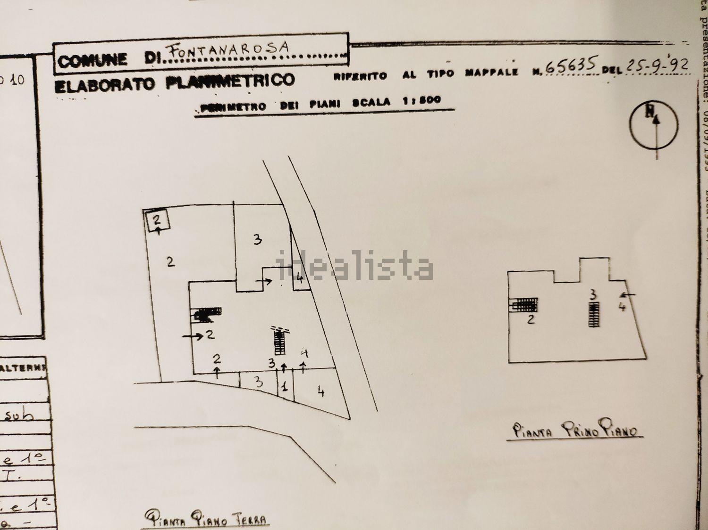Planimetria di appartamento su due piani su via Principe di Piemonte, 43, Fontanarosa