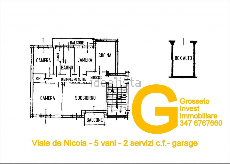 Immagine Planimetria di appartamento su  de nicola, 20, Gorarella, Grosseto, Agenzia Immobiliare Grosseto Invest