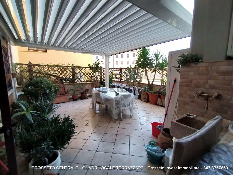 Grosseto Invest di Luigi Ciampi vendita appartamento Terrazzo di quadrilocale su  Agostino de pretis, 10, Centro, Grosseto
