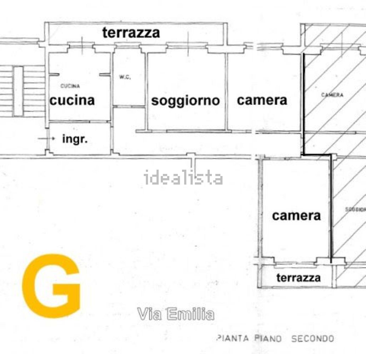 Grosseto Invest di L. Ciampi ::  Planimetria di quadrilocale in affitto a Via Emilia, Pace, Grosseto